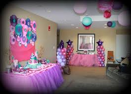 it s a girl baby shower decorations pink purple turquoise it s a girl baby shower party ideas photo