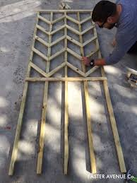 how to build a chevron lattice for garden plants step 16 easter