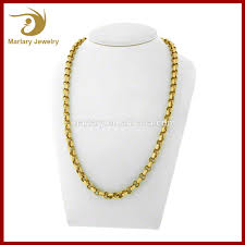 chains necklace images Women female fashion gold thin chains necklace stainless steel jpg