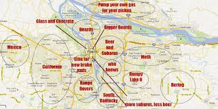 map of oregon portland generalized and offensive map of the portland metro area x post