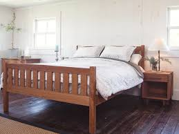 Wood Platform Bed Frames Crown Mission Cherry Wood Platform Bed Frame High