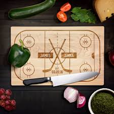 wedding cutting board personalized cutting board wedding gift hockey fan rink hockey