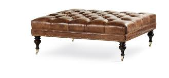 Leather Ottoman Tufted Products Benches And Ottomans Hancock And