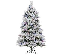 ed on air santa s best 7 5 flocked spruce tree by degeneres