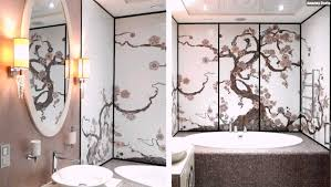 jugendstil badezimmer mosaik fliesen badezimmer jugendstil weiss braun baum dekorativ
