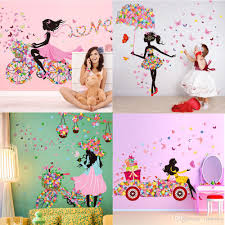 diy beautiful home decor wall sticker flower fairy wall