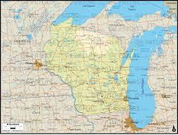 Map Of Wisconsin by Geoatlas United States Canada Wisconsin Map City Illustrator