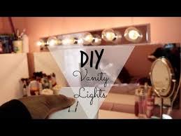 Diy Vanity Lights Diy Lowe U0027s Vanity Lights Under 50 Brwnskindbeaut Youtube