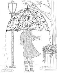 prettiest umbrella coloring coloring girls free
