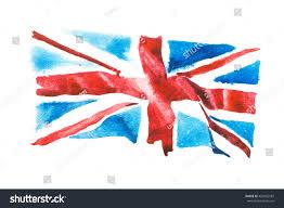 british flag united kingdom watercolour hand stock illustration