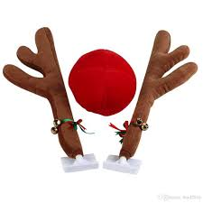 reindeer antlers for car christmas reindeer antlers car costume antlers nose set auto