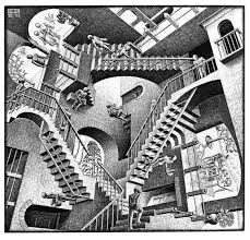 advice for living in m c escher s house mob s tea house