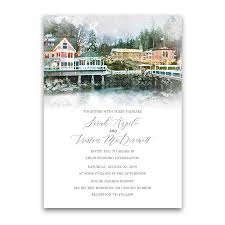 wedding invitations island roche harbor wedding invitations san juan island wa