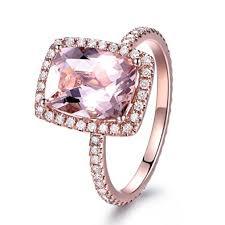 engagement rings pink images 7 9mm cushion cut natural pink morganite engagement ring halo jpg