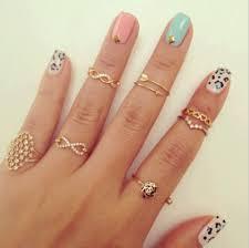 half ring various shaped shiny golden half finger rings for