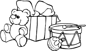 christmas present coloring pages u2013 barriee