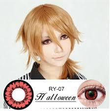 freshgo red yellow demon zombie contact lenses fire eye lenses