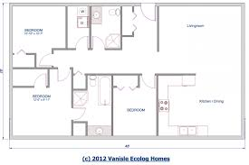 level floor cabin plan one level floor plans sqft 28x48 home bedroom