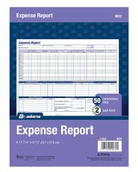 Expense Report Details by Expense Report Weekly 2 Part Carbonless 50 Pk