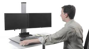 innovative winston sit to stand workstation youtube