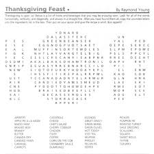 thanksgiving word search puzzle in october 2012