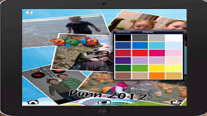 how to create a yearbook using the pic collage app to create a yearbook page