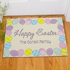 personalized easter eggs easter eggs doormat welcome mat