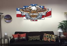 eagle home decor american eagle harley davidson motorcycle canvas wall art for home