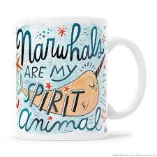 animal mug narwhals are my spirit animal mug u2013 kathy weller art ideas shop