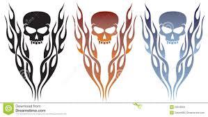 flames and skull stock vector illustration of skull 20648694