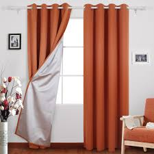 Orange Thermal Curtains Buy Best Orange Curtains Ease Bedding With Style