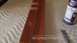 Repairing Scratches In Laminate Flooring How To Repair A Scratch In Your Laminate Furniture Youtube