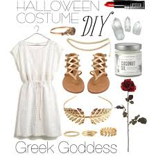 Coconut Halloween Costume Halloween Costume Diy Greek Goddess Polyvore