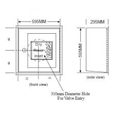 Dry Riser Cabinet Hc006 Hydrotech 4 Way Inlet Cabinet