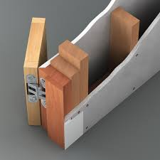 reversible flush wall door with push or pull opening details