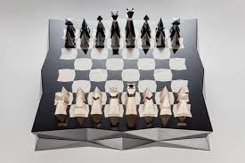 Unique Chess Pieces Cubist Chess Jaroslav Juřica