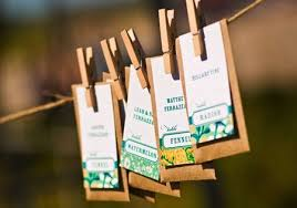 seed packets wedding favors pine is here garden variety continues