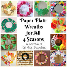 kitchen floor crafts paper plate wreaths for all 4 seasons