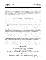 Sample District Manager Resume Retail Manager Resume Templates Template For Job Store Su Saneme