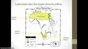 Africa Physical Map by Physical Map Of Africa Youtube
