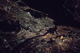 lights of new york city nasa