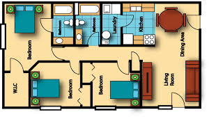 3 Bedroom Floor Plans by Chesapeake Landing Apartments Gillespie Group