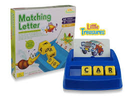 amazon com little treasures matching letter game teaches word