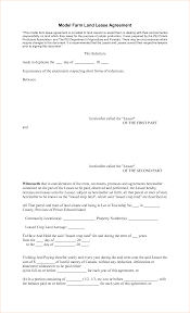 land lease agreement template 6 farm lease agreementreport template document report template