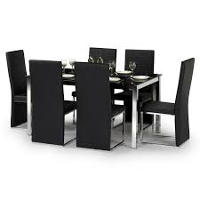 Glass Dining Table With 6 Chairs Lienzoelectronico Glass Dining Tables