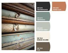 create an aquatic color palette complete with underseas sw 6214
