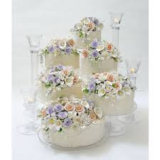 crystal cascading cake tiers u2014 wedding cake stands crafted in the