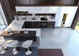 U Shaped Bar Table Kitchen Room Minimalist Kitchen Island Breakfast Bar Table U