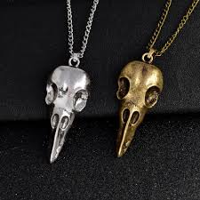 skull pendant necklace images Super discount raven skull pendant necklace evil skullz jpg