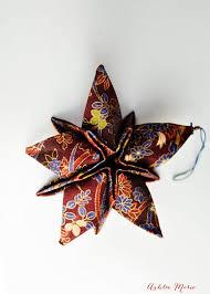 fabric origami christmas star ornaments ashlee marie